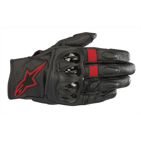 アルパインスターズ alpinestars 8033637052878 CELER V2 LEATHER GLOVE 1030 BLACK RED FLUO M
