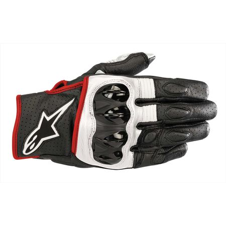 アルパインスターズ alpinestars 8033637053998 CELER V2 LEATHER GLOVE 1231 BLACK WHITE RED FLUO M