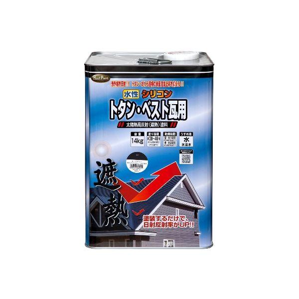 【予約受付中】【7月下旬以降入荷予定】ニッペホームプロダクツ 4976124201264 水性シリコントタン・ベスト瓦用遮熱塗料 クール銀黒 14kg