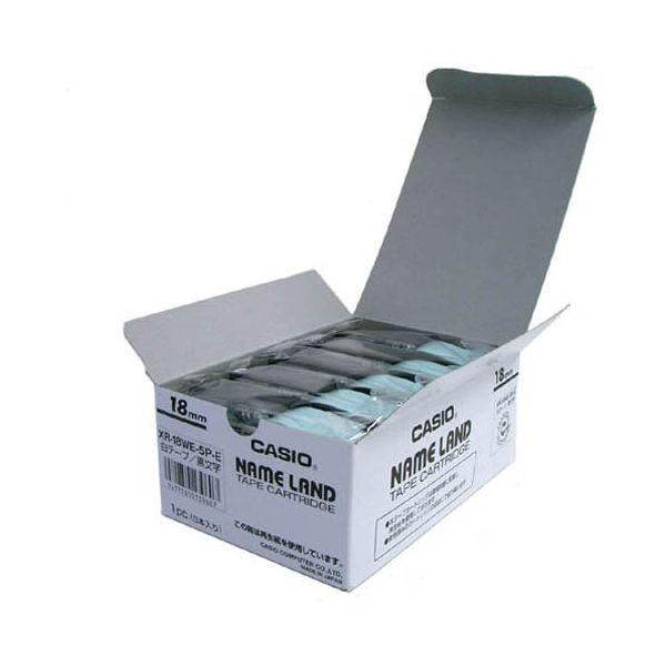 2147345065986 カシオ計算機 テープ XR-18WE-20P-E 白に黒文字 18mm20個