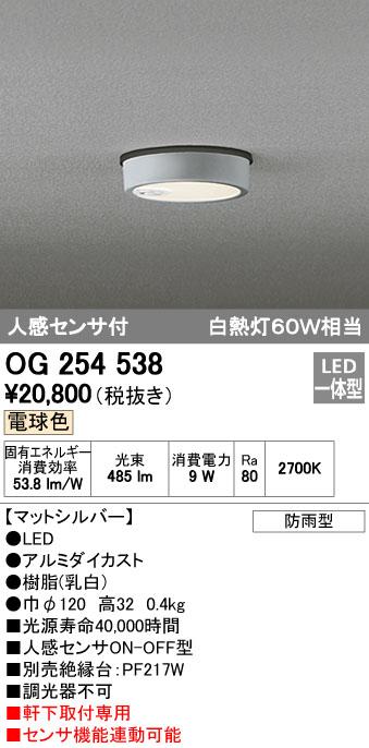 オーデリック ODELIC OG254538 LEDポーチライト【送料無料】