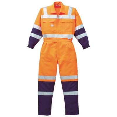 AUTO-BI 7620-OR-LL 高視認ツナギ服 LLサイズ オレンジ7620ORLL