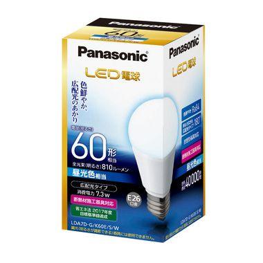 【送料無料】パナソニック LED電球 一般電球形 60W形相当 昼光色 口金E26 広配光タイプ [10個セット] LDA7D-G/K60E/S/W-10SET