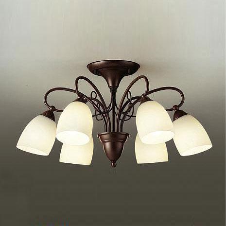 【送料無料】大光電機 LEDシャンデリア ~10畳用 白熱電球60W×6灯相当 電球色 DCH-38781Y