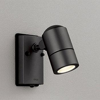 【送料無料】オーデリック LEDエクステリアスポットライト 人感センサ付 白熱球50W相当 電球色 黒色サテン OG254567LD