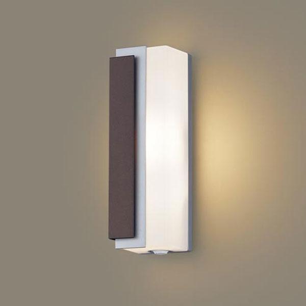 【送料無料】パナソニック LEDポーチライト センサ付 白熱球40W相当 電球色 左側遮光 LGWC80442LE1