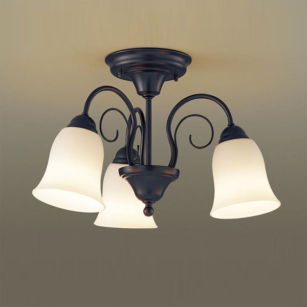 【送料無料】パナソニック LEDシャンデリア ~4.5畳用 白熱球60W×3灯相当 電球色 LGB57345K