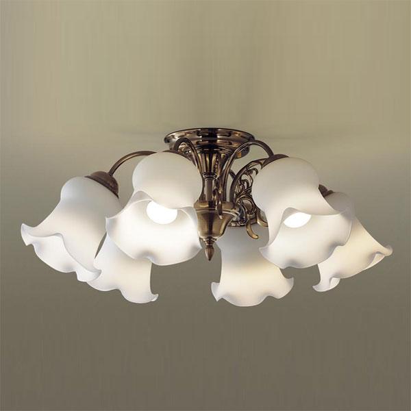 【送料無料】パナソニック LEDシャンデリア ~10畳用 白熱球50W×6灯相当 電球色 LGB57614K