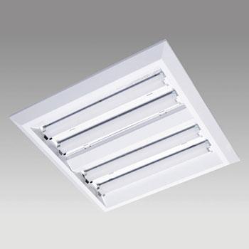 【送料無料】あかり電材 LEDベースライト スクエア形 直付・埋込兼用 埋込穴□500 FHP32W×4灯相当 5000K AFL-8802-50