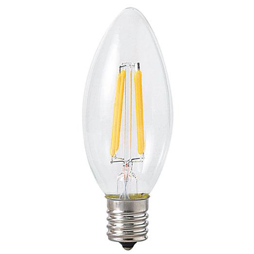 【送料無料】東京メタル LED電球 シャンデリア電球タイプ 40W形相当 電球色 口金E17 [10個セット] LDC4LC40WE17-T2-10SET