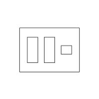 【送料無料】パナソニック コンセントプレート 3連用 7コ用 スクエア ダークブラウン WTV6207A1