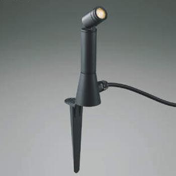 【送料無料】コイズミ照明 LEDスポットライト 白熱球60W相当 電球色 プラグ付 中角 ブラック AU47308L