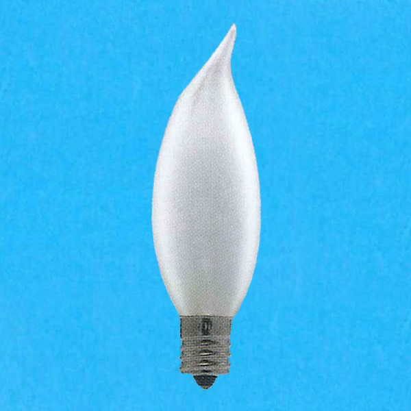 【送料無料】アサヒ 曲がりシャンデリア電球 105V 40W 直径32mm 口金E12 フロスト [25個セット] C32E12100/110V-40W(F)曲がり-25SET