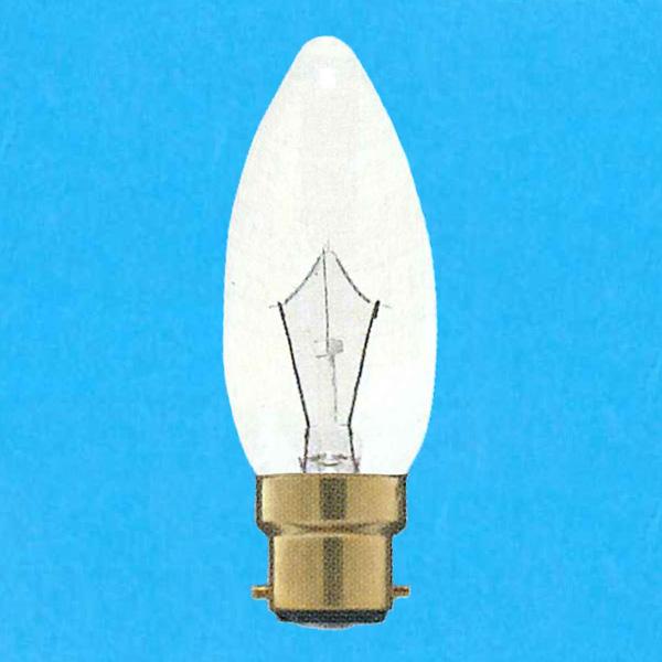 アサヒ シャンデリア電球 100-110V 25W 直径37mm 口金B22D 送料無料 -25SET 25個セット C クリヤー C37B22D100 デポー 110V-25W