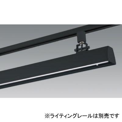 【送料無料】ユニティ LEDベースライト 40W×2灯相当 3500K ブラック レール取付専用 [4台セット] UFL-8452B-35-4set