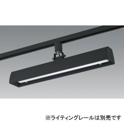 【送料無料】ユニティ LEDベースライト 30W×1灯相当 3000K ブラック レール取付専用 [6台セット] UFL-8450B-30-6set