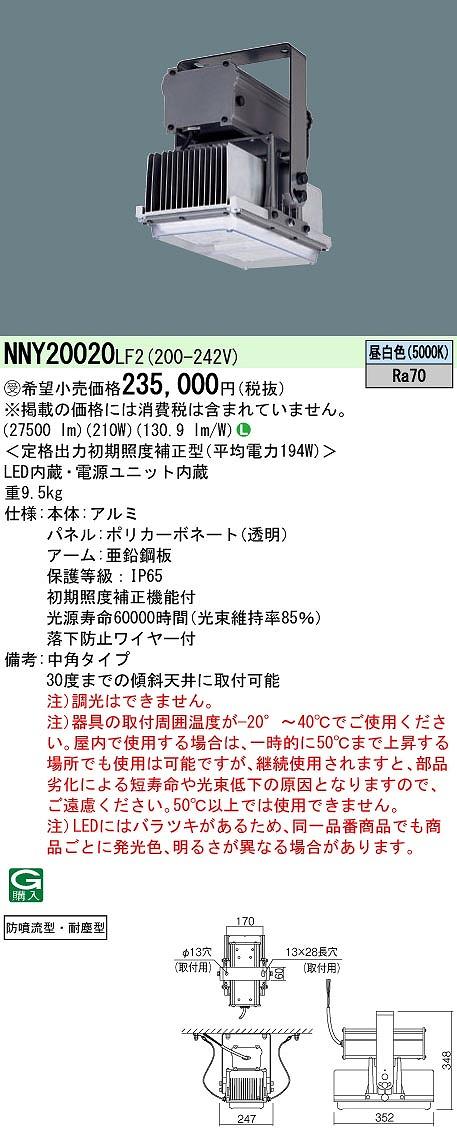 高天井用照明 PANASONIC NNY20020-LF2