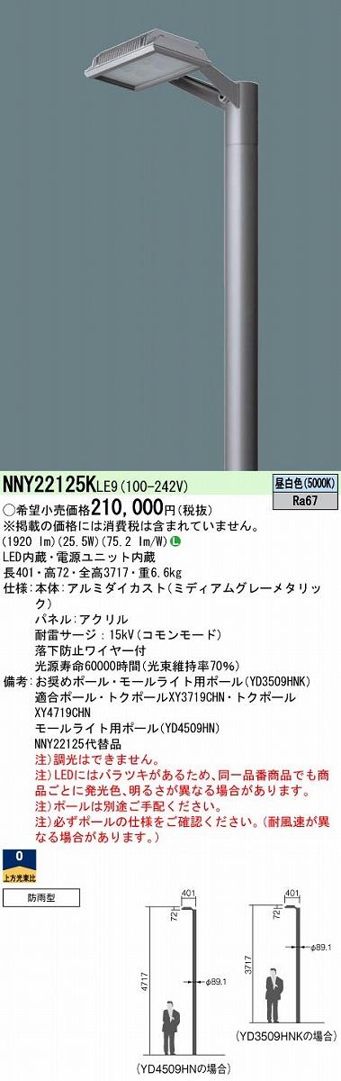 街路灯 PANASONIC NNY22125K-LE9