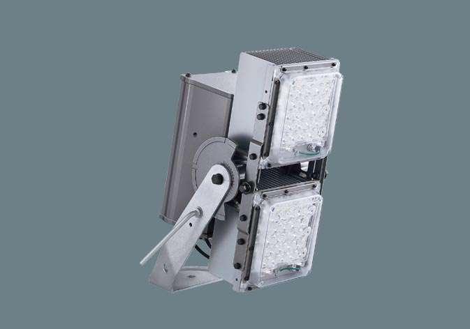 ◆受注品◆Panasonic NNY24612KLF2 LED(昼白色) 投光器 1/10ビーム角75度・広角形(60度~) 定格出力初期光束補正型・防雨型・重耐塩害仕様 パネル付型 水銀灯1000形1灯器具相当/HID1000形1灯器具相当 水銀灯1000形