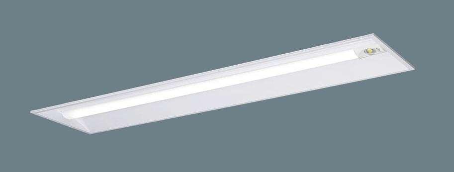 【V】Panasonic パナソニック XLG431VGNLE9 天井埋込型 40形 一体型LEDベースライト(非常用) 30分間タイプ 自己点検スイッチ付・リモコン自己点検機能付・非常時LED一般出力型 下面開放型 Hf蛍光灯32形高出力型1灯器具相当 Hf32形高出力型・3200 lm