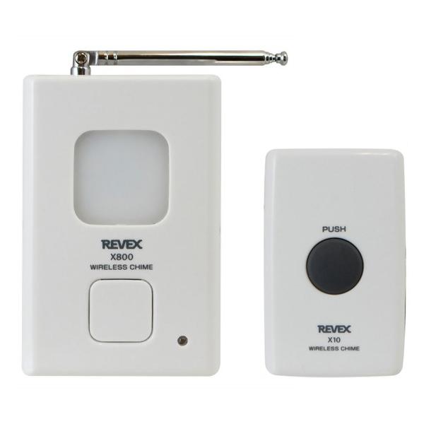 チャイム ワイヤレス 取付簡単 リーベックス 与え REVEX ワイヤレスチャイムXシリーズ TC X810 呼び出しチャイムセット 送信機+受信機セット お取寄せ品 上等