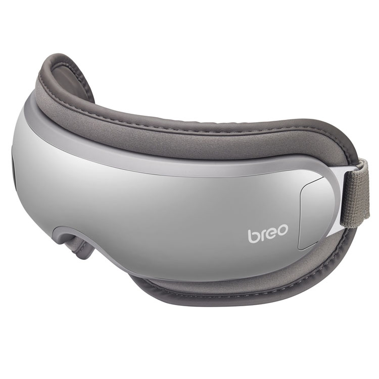 iSee 16 グレー BRE1100H送料無料 アイマスク 目もとエステ ホット エアー 振動 デスクワーク ブレオ 海外対応 充電式 breo【D】【B】