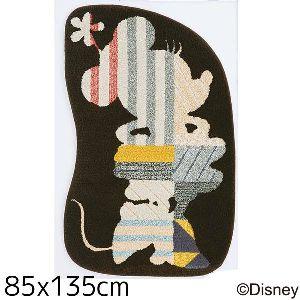 【送料無料】【TD】ミニー モデルフレームラグDRM-4021 85×135cmブラウン 敷物 絨毯 マット ディズニー キャラクター 【スミノエ】
