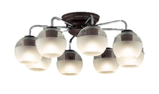 東芝 LED シャンデリア ~14畳 電球色ランプ8個付き(ランプ形名:LDA7L-G-E17/S60WST) 照明器具LEDC88012-8G