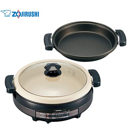 象印 ZOJIRUSHI グリルなべ あじまる EP-RD20 土鍋風大型なべ 遠赤平面プレート Grill pan BBQ