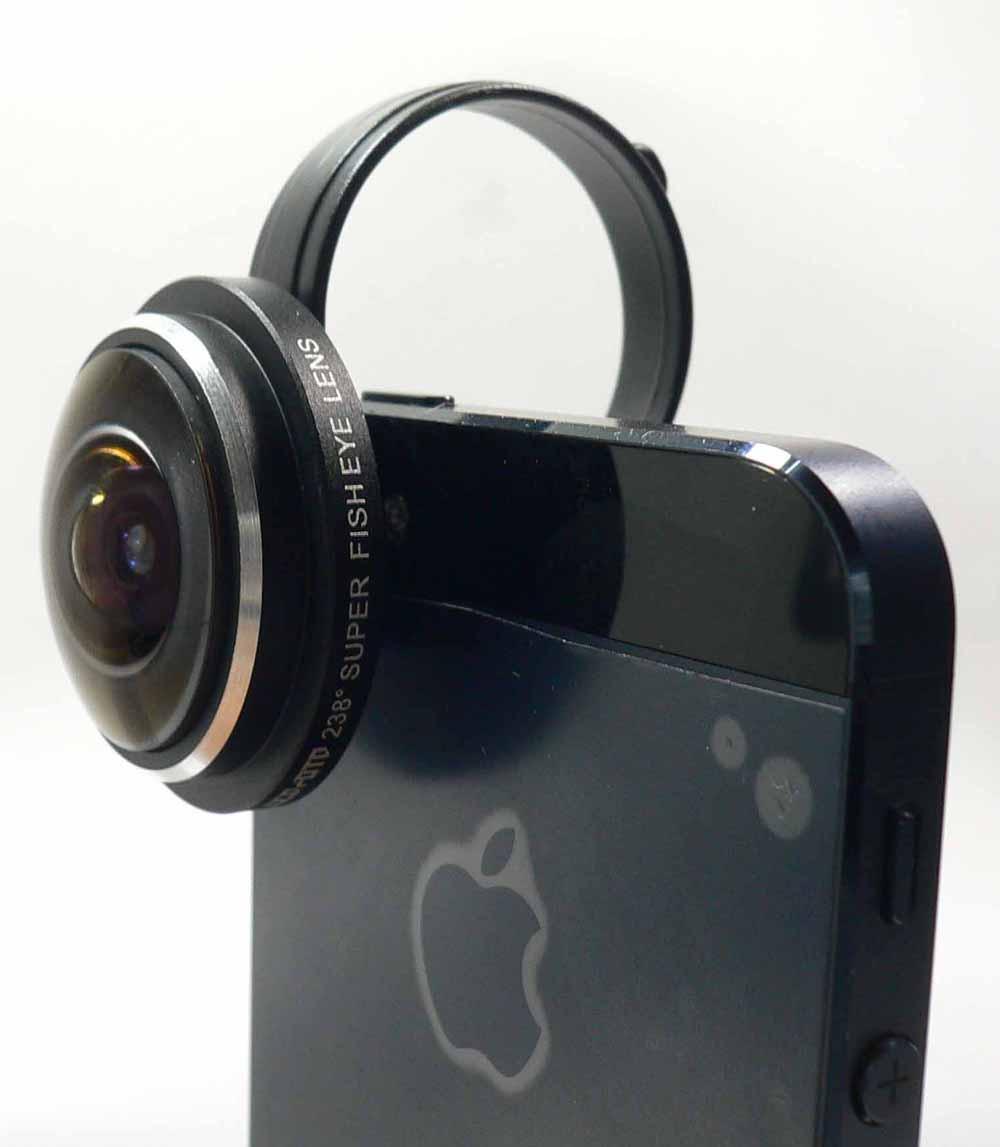 【送料無料】Lumen LM-FISH238BK ブラック Glass FISH EYE 238° 魚眼 ガラス レンズ スマホ タブレット用 カメラ レンズ クリップ式セルカレンズ