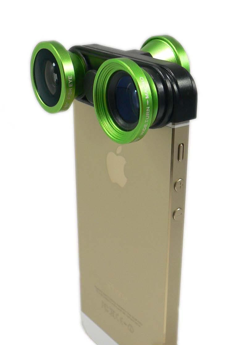 【送料無料】Lumen LM-2FMW-GN(グリーン)4in1 カメラレンズ 広角 ワイド(0.67倍)X 魚眼(180度)X マクロ(接写)x 自分撮り魚眼(180度)ケース一体型 光学ガラスレンズ iphoneSE iPhone5 iPhonr5s専用