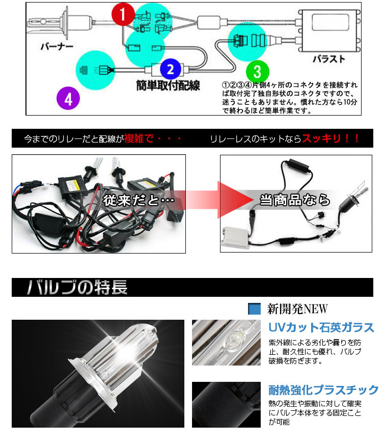 HID Kit • high quality • mounting easy HID H4 Kit slim 55 W Hi/Low H Hid Kit Wiring Diagram on