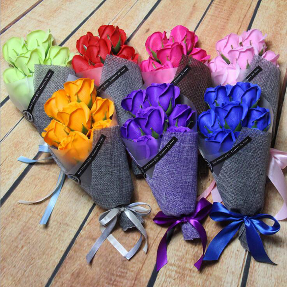 Akashihonpo rakuten global market an artificial flower seven set an artificial flower seven set bouquet soap flower and set mothers day birthday present of the message card which convey the feeling of thanks to an izmirmasajfo