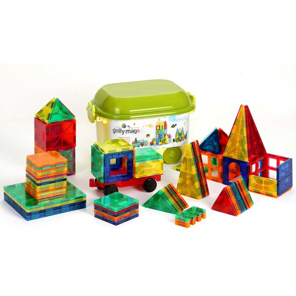 マグネットブロック 磁石ブロック マグネットおもちゃ 知育玩具 立体パズル 組み立て 積み木 収納ケース付き 誕生日 入園祝い ギフトクリスマス 贈り物 100ピース