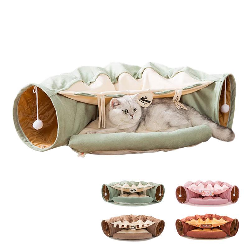 猫 トンネル 激安☆超特価 驚きの値段 おもちゃ ベット 2WAY 折りたたみ 収納便利 トンネルベッド キャットトンネル 猫ハウス