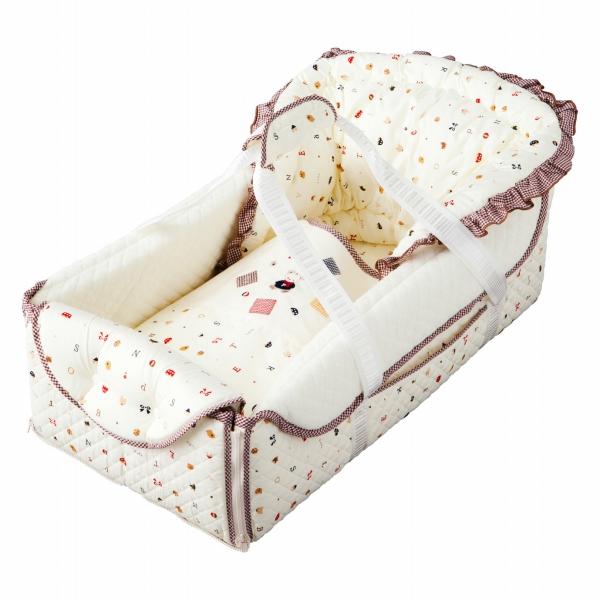 日本製 クーファン クーハン バッグdeクーファン トーイズ かわいい かご 5way 出産準備 お昼寝 新生児 人気 赤ちゃんの城 出産祝い ベビー寝具 持ち運び 赤ちゃん ベビー お出かけ 送料無料