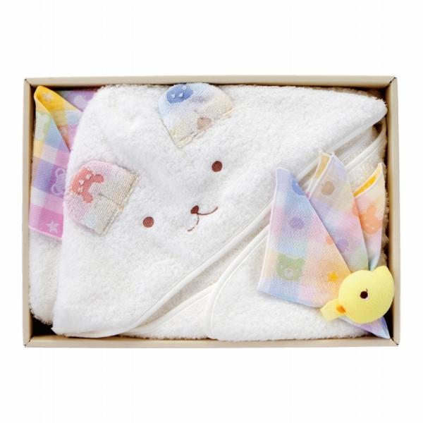 【公式ショップ 赤ちゃんの城】ギフトセット カラフル バスタオルローブ 妊娠 出産 誕生 祝い プレゼント 男の子 女の子 人気