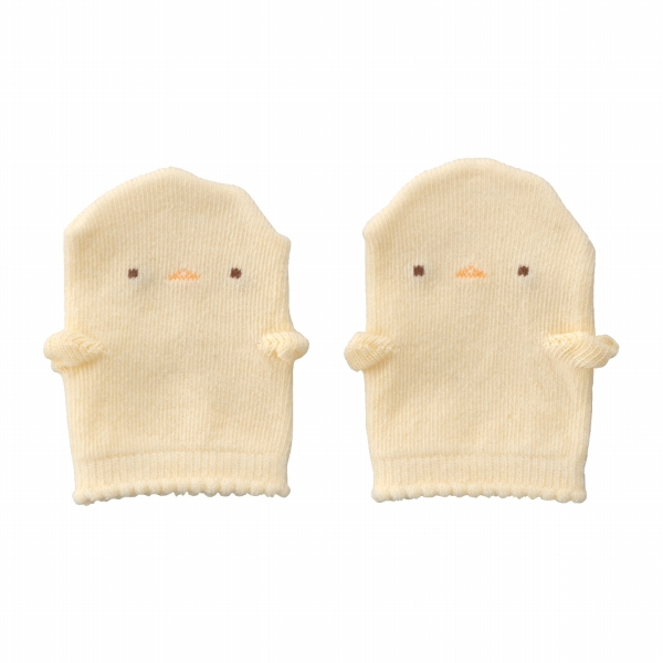 日本製 赤ちゃんの城 ミトン ぴよぴよ 出産準備 綿100% ひっかき防止 春の新作シューズ満載 ギフト 男の子 女の子 プレゼント 割り引き