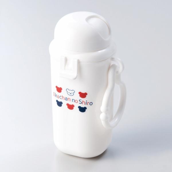 【ベビーカーにも取り付け可能】 日本製 おやつケース ベビー食器 トリコロール シンプル 単品 回転式 ふた ボーロ ベビーカー 取り付け可能 リング付き なくさない くま 赤ちゃんの城