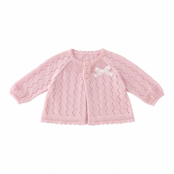 カーディガン リーフメッシュ 日本製 お洒落 羽織り 女の子 驚きの値段で