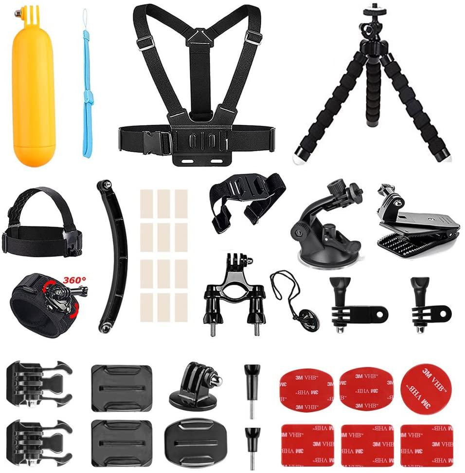 最新仕様正規品 AKASO 公式指定唯一の代理販売店 1年間安心保証付き 14 in 1 スポーツ カメラ アクセサリー カメラ用 激安特価品 キット EK7000 EK5000スポーツ AL完売しました TOUCH Gopro DRAGON バンドル Hero