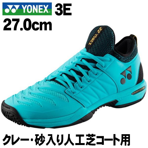 GC>3E GC メン テニスシューズ CUSHION フュージョンレブ3 FUSIONREV3 <27.0cm>【YONEX】クレー・砂入り人工芝コート用 <パワークッション MEN POWER ミントブルー