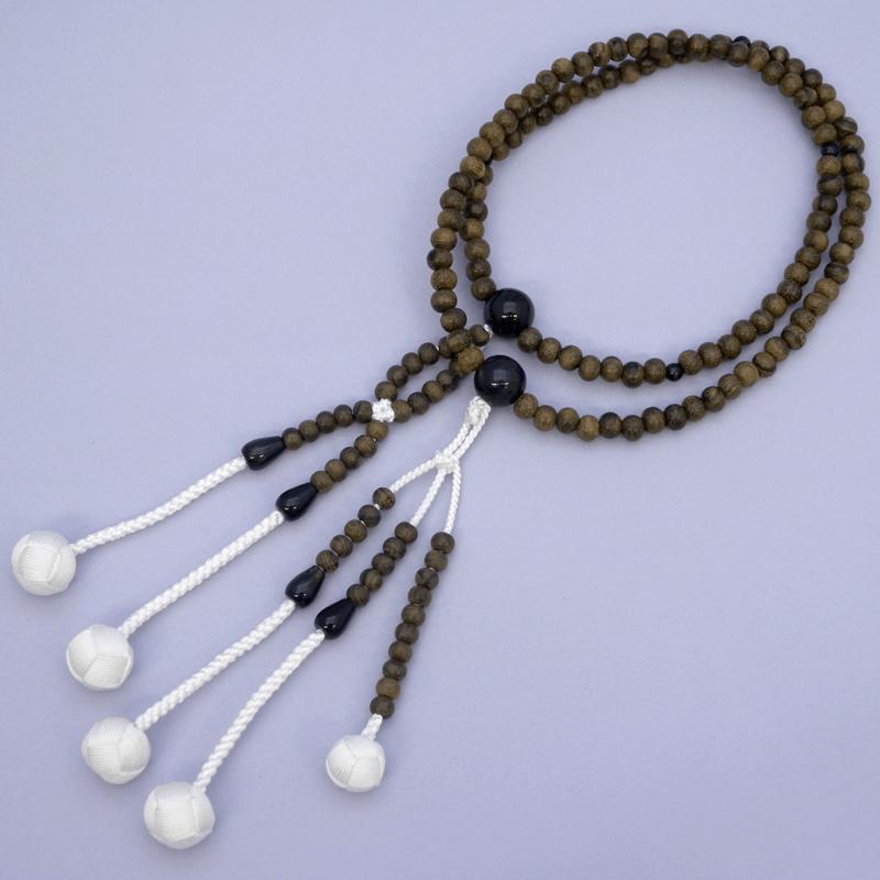 創価学会 念珠 シャム柿(青虎目仕立)【大サイズ】 数珠 大きなサイズ お念珠製作は国産