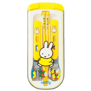 Zoketsu ★ trio set ctswa MF189 Miffy ★ entrance enrollment of preparation / school / excursion / athletic / chopsticks spoon fork]