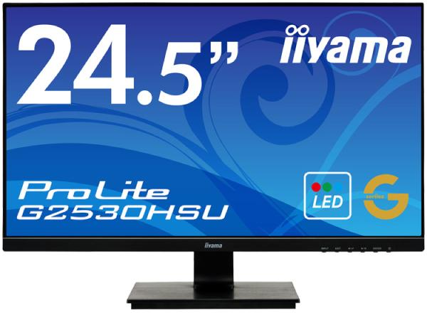 【送料無料】【新品】iiyama 液晶モニター 24.5インチ フルHD 応答速度1ms対応 ゲーミングワイド液晶ディスプレイ AMD FreeSync HDCP対応 HDMI入力搭載 24.5型 25インチ 25型 マーベルブラック G2530HSU-B1