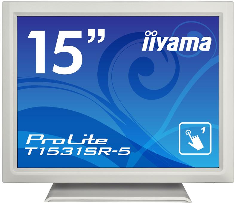 【送料無料】【新品】 iiyama 液晶モニター 15インチ 防塵・防滴 IP54対応 抵抗膜方式タッチパネル 液晶ディスプレイ アンチグレア ワイドレンジスタンドタイプ HDMI DisplayPort 15型 ピュアホワイト ProLite T1531SR-W5