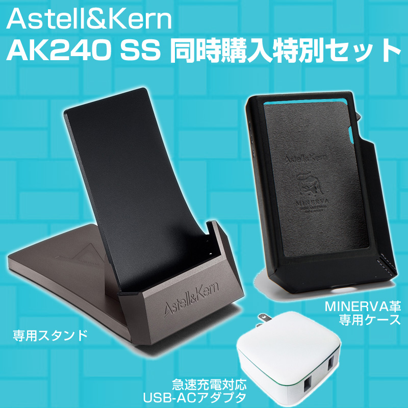 Astell Kern AK240 SS stainless steel version set [stand + case + charger for USB-AC adapter]