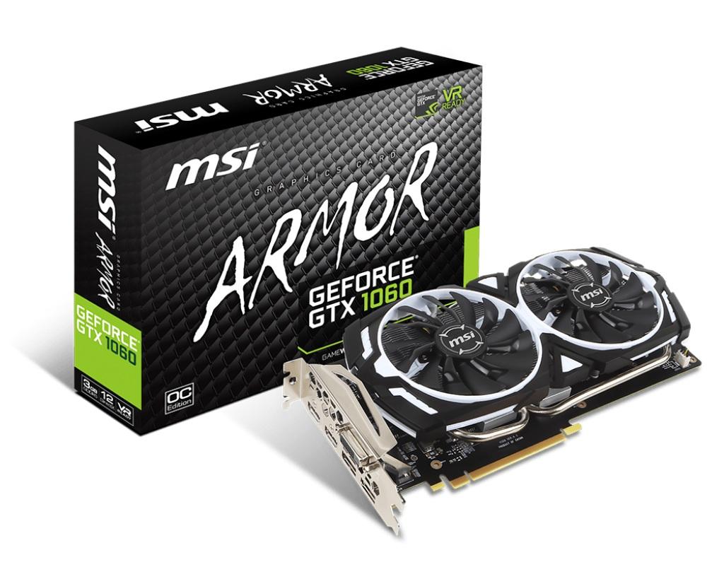 【訳あり・アウトレット】 msi GEFORCE GTX 1060 ARMOR 3G OCV1 [NVIDIA GeForce 1060 / 3GB][通常保証][WH001:9]