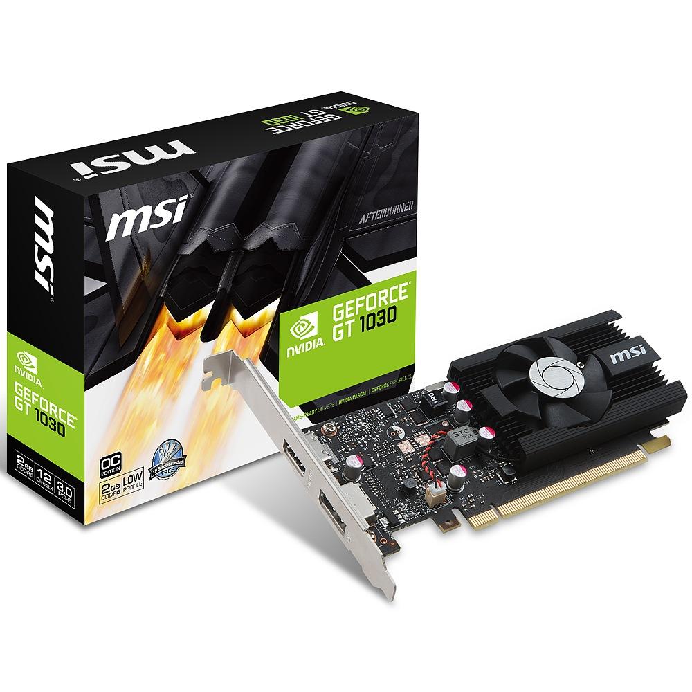 MSI エムエスアイ グラフィックボード GEFORCE GT 1030 2G LP OC [NVIDIA GeForce GT 1030 / 2GB]