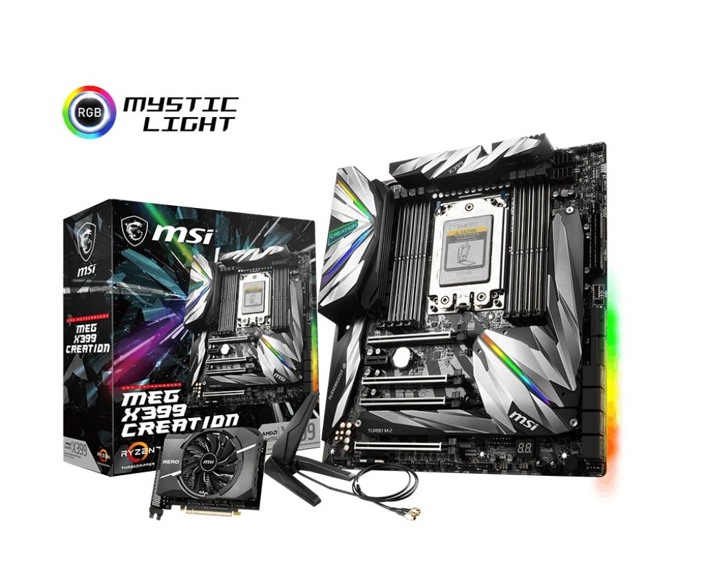 msi エムエスアイ マザーボード MEG X399 CREATION [AMD Socket TR4 X399]